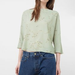 Textured cotton blouse